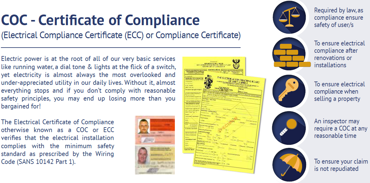 commercial compliance certification dan electrical rh danelectrical net south africa wiring code sans 10142 Commercial Wiring Code